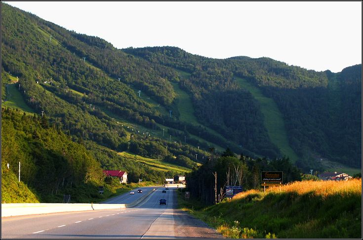 The highway at Marble Mountain Ski Resort area, driving in to Corner Brook, NL