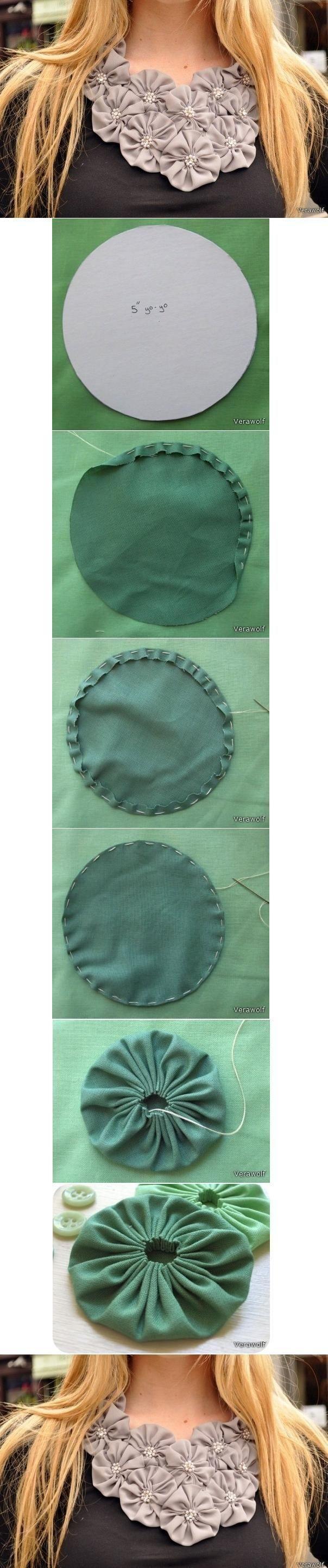 DIY Tutorial DIY Fabric Flowers / DIY Fabric Flower Ornament - Bead&Cord