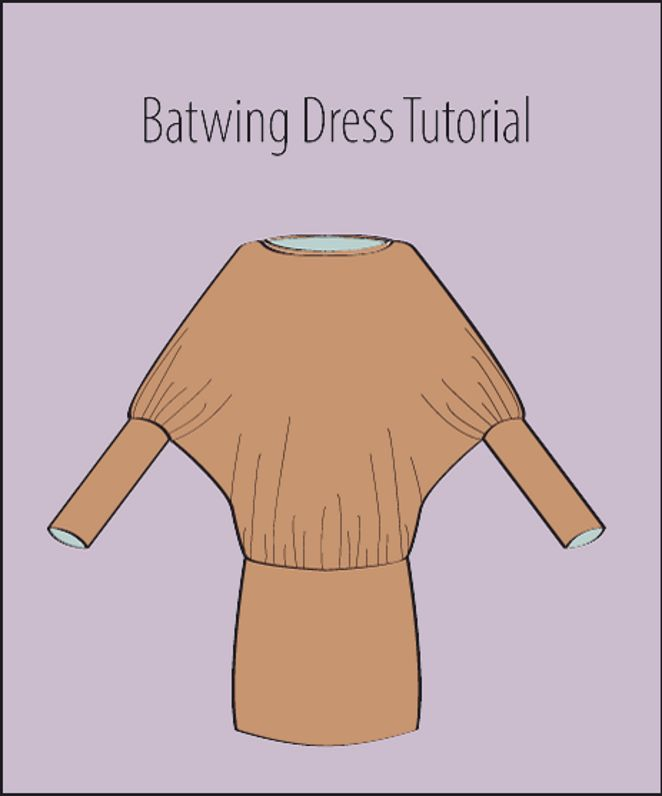 Illustrated Tutorial: how to sew a Batwing Dress (How To Make Dress Shorter)