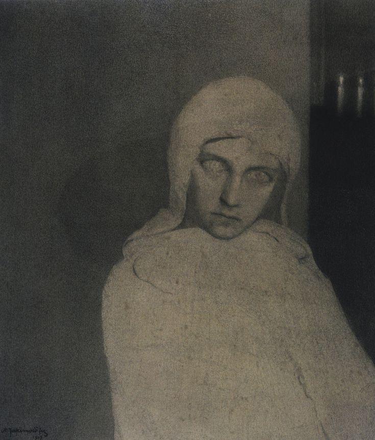 Foreboding, Mieczysław Jakimowicz in 1907.