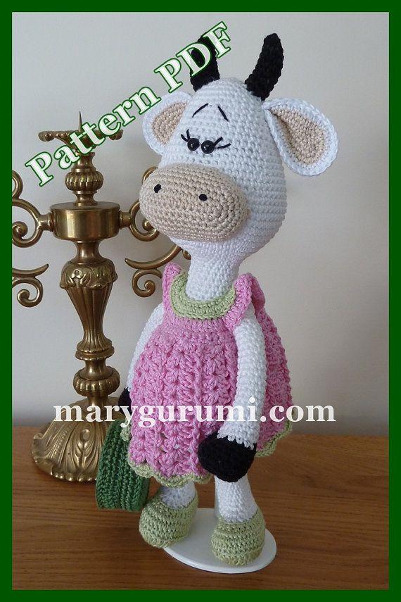 Crochet Pattern pattern tutorial Amigurumi cow family