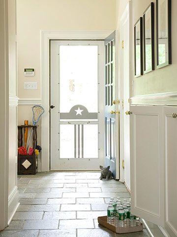 17 best images about screen door love on pinterest for Front door with screen built in