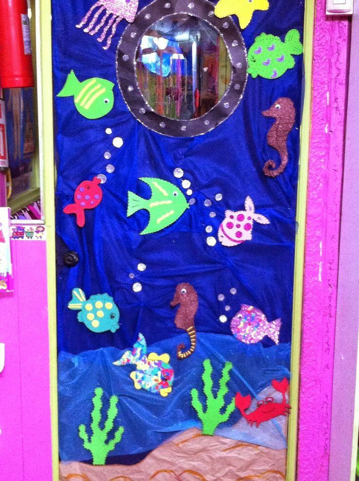 La decoración de nuestro jardin infantil en el mes del mar