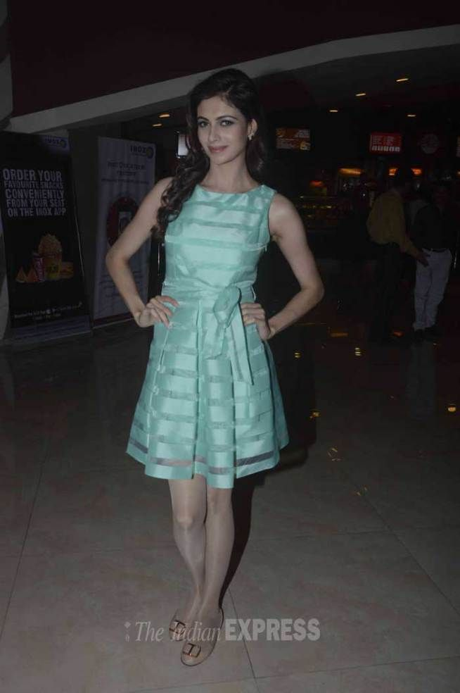 Simran Kaur Mundi at Kis Kisko Pyaar Karoon trailer launch. #Bollywood #Fashion #Style #Beauty