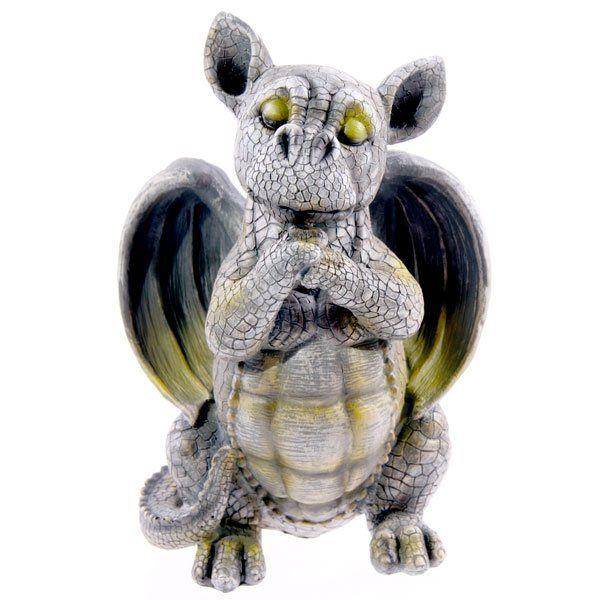 Standing Friendly Dragon Garden Ornament, Dragon Garden Statues