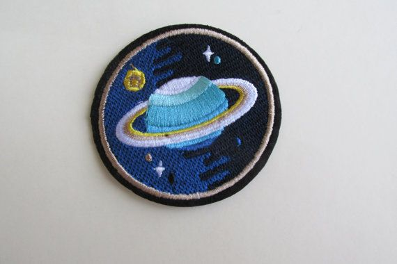 Space Planet Iron on Patch by TheIrishKnittingRoom on Etsy