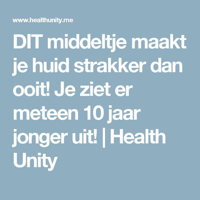 DIT middeltje maakt je huid strakker dan ooit! Je ziet er meteen 10 jaar jonger uit! | Health Unity