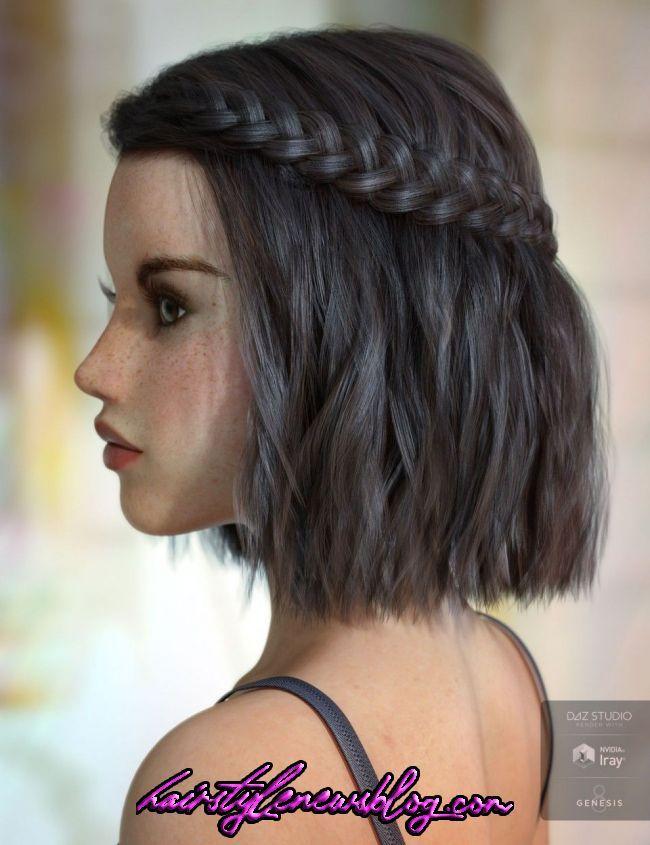 How To Waterfall Braid Short Hair Milabu Short Hair Tutorial Braids For Short Hair Short Hair Diy