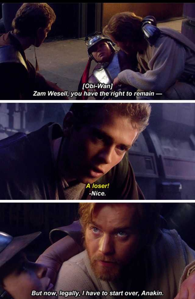 Coruscant 99 Dump Star Wars Quotes Star Wars Memes Star Wars Jokes