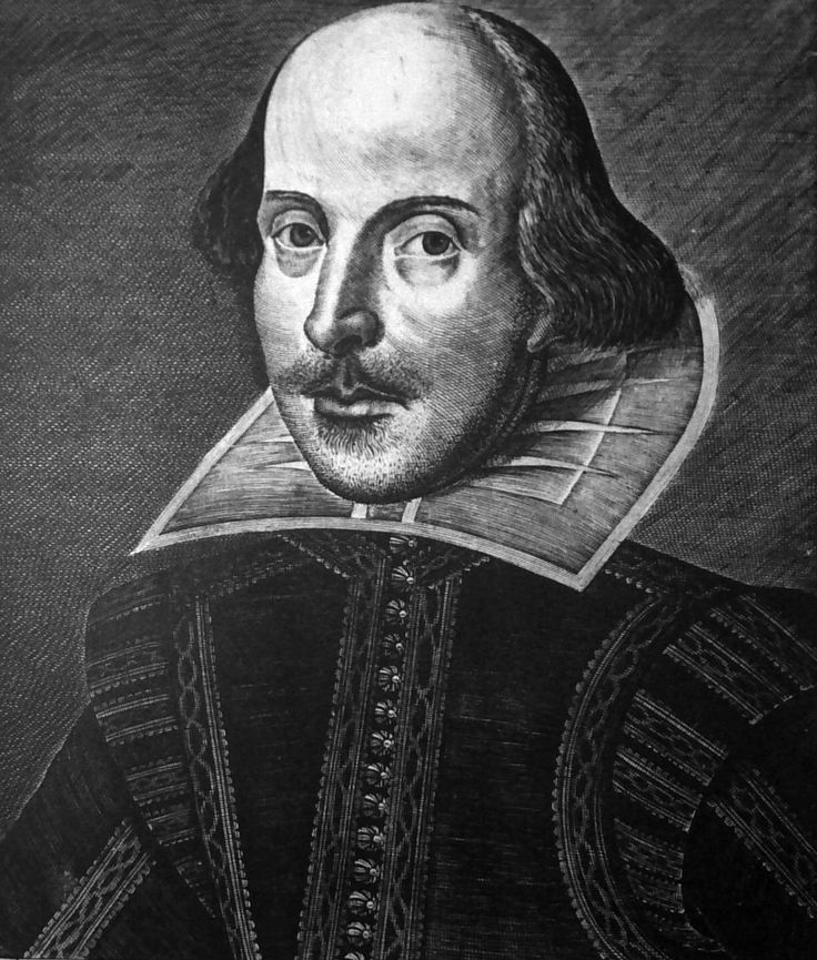 "William Shakespeare, 1623. From the title page of the First Folio. Why was Shakespeare depicted with a masklike face, levitating head, and two-dimensional body when the artist could clearly do better? ""Looke not on his picture,"" warns Ben Jonson to readers of the Folio, ""but on his Booke."" What does it all mean?"