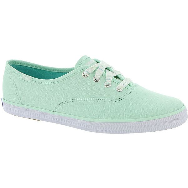Keds Champion Seasonal Solids ($45) ❤ liked on Polyvore featuring shoes, mint, keds, keds footwear, mint green shoes, keds shoes and mint shoes