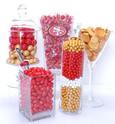 San Francisco 49ers Candy Buffet Kit