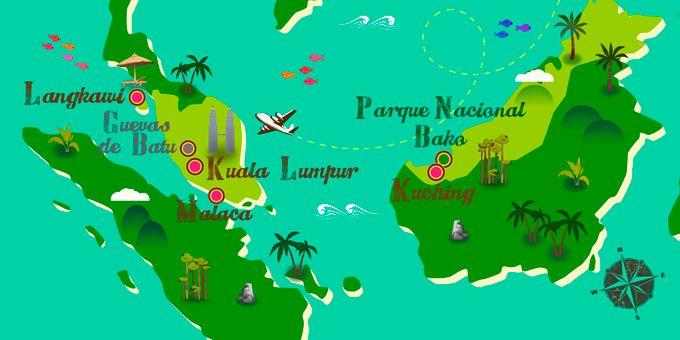 Malasia Mapa Malasia Malasya Sudeste Asiatico