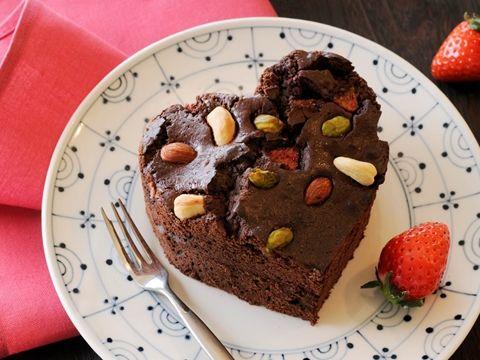 いちごと ナッツの生しょうゆハートのブラウニー  http://www.yamasa.com/recipes/1592/