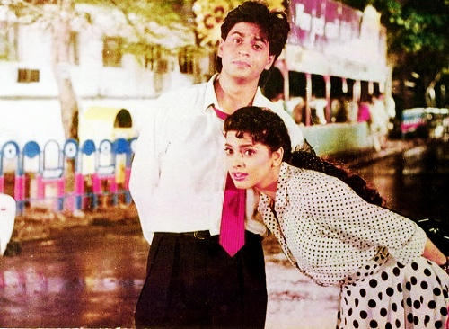 Shah Rukh Khan and Juhi. Back when I first started crushing on him.