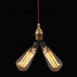 #Quirky #Antiqued #double #Pendant is #designed & made here in britain.#Bespoke #british & unique #retro #design #industrial #lighting #light