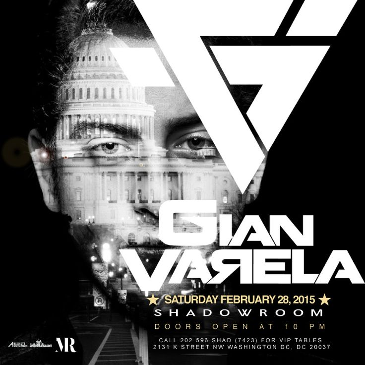 **TONIGHT**  Saturday NIGHT at Shadow Room   ** SPECIAL GUEST DJ - GIAN VARELA **  Featuring Veuve Clicquot  RSVP on ShadowRoom.com or call 202.596.SHAD(7423) for VIP Tables.  ** EARLY ARRIVAL IS HIGHLY RECOMMENDED **