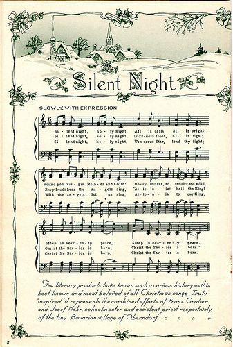 Sweet Christmas sheet music.  I wonder how 'stitchable' this would be?!  :)