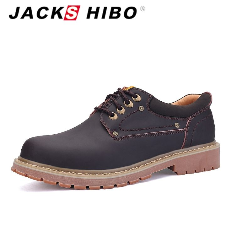 ==> [Free Shipping] Buy Best JACKSHIBO Brand Men Leather Shoes Handmade Mark Shoes Metrosexual Man Doctrine Tough Style Outdoor Shoe for Worker Shoe Online with LOWEST Price | 32607094807