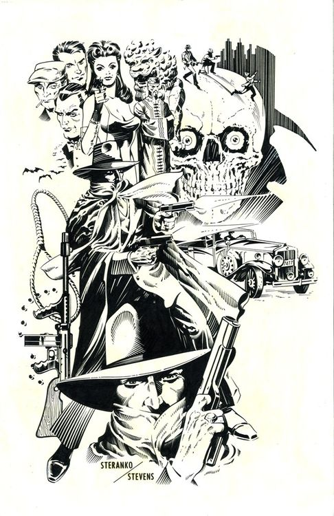 """The Shadow, pencils by Jim Steranko, inks by Dave Stevens. This should be in the dictionary next to the word """"classic."""""""
