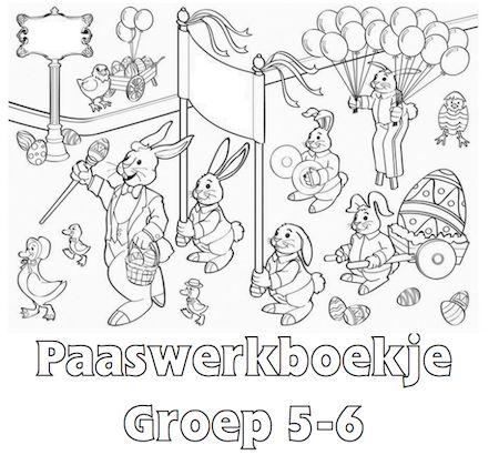 Paaswerkboekje Groep 5-6 - Klaarwerk.nl