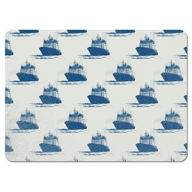 Uneekee Cast Off Nautical Placemats (Set of 4) (Cast Off Nautical Placemat), Multi (Polyester)