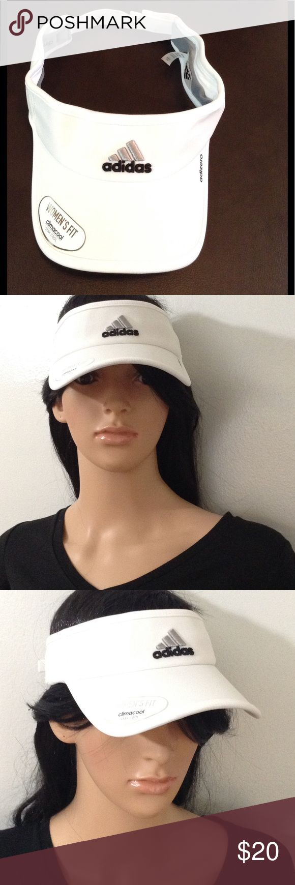 Adidas Sun Visor ( With Stay Cool Technology ) Adidas visor features Logo front and back design. Sun visor has climatology extra band that keeps you cool on the hottest days. Good for amusement park trips, outdoor workouts, and routine walks. adidas Accessories Hats