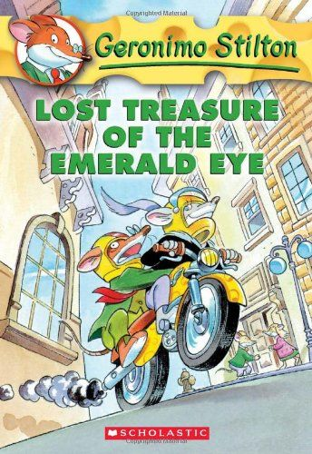 Lost Treasure of the Emerald Eye (Geronimo Stilton, No. 1)This book gets tons of checkout at the library.. Meet Geronimo Stilton, the not-so-intrepid reporter who gets caught up in adventure after adventure. Oh yes, he happens to be a mouse. Kids love his conversational style and the colorful illustrations and typography that decorate every page One of the great books for boys, reluctant readers. Beginning chapter book. A nice book to get if you know a kid who likes Captain Underpants.