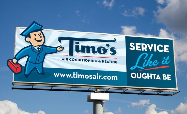 Billboard For Hvac Contractor In Palm Springs Ca