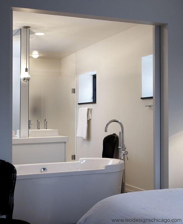 modern interior design by leo designs chicago interior design studio master bathroom. beautiful ideas. Home Design Ideas
