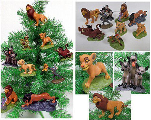 """Lion King"" 9 Piece Christmas Ornament Set Featuring Simba, Nala, Scar, Timon, Zazu, Hyena's, Rafiki and Mufasa, Ornaments"