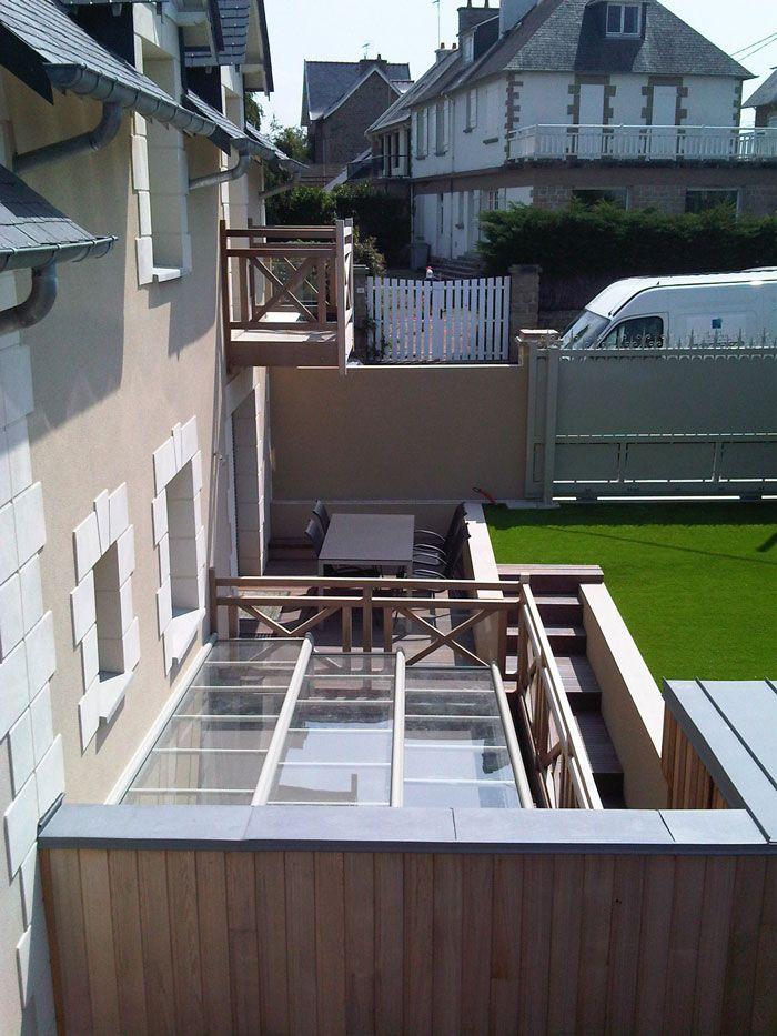13 best terrasse pilotis acier images on Pinterest Balconies - terrasse sur pilotis metal