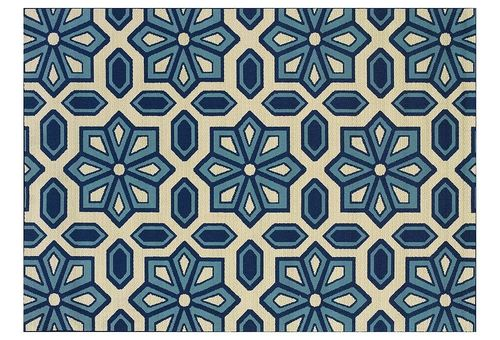 Puna Outdoor Rug, Ivory/Blue from One Kings Lane on shop.CatalogSpree.com, your personal digital mall.