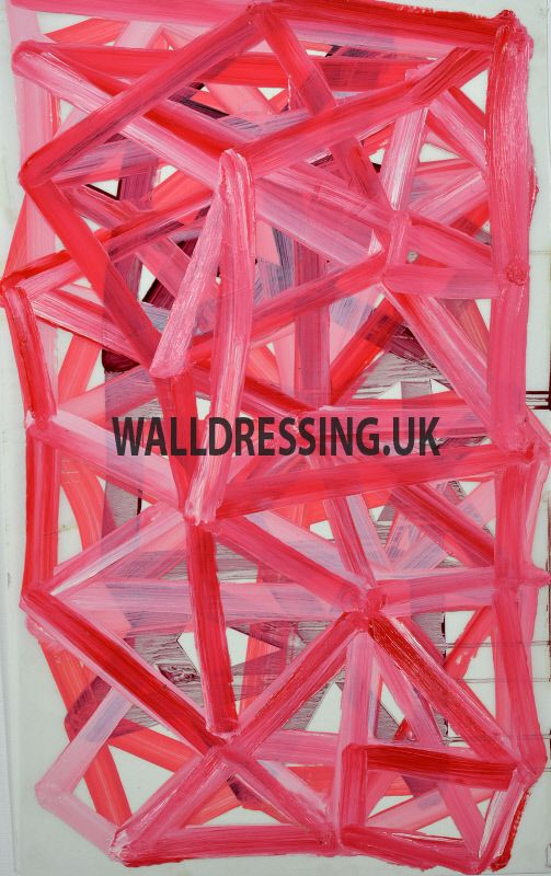 www.walldressing.co.uk, charlie cobb, artwork, clearance free, film, tv, abstract, painting, acrylic, red