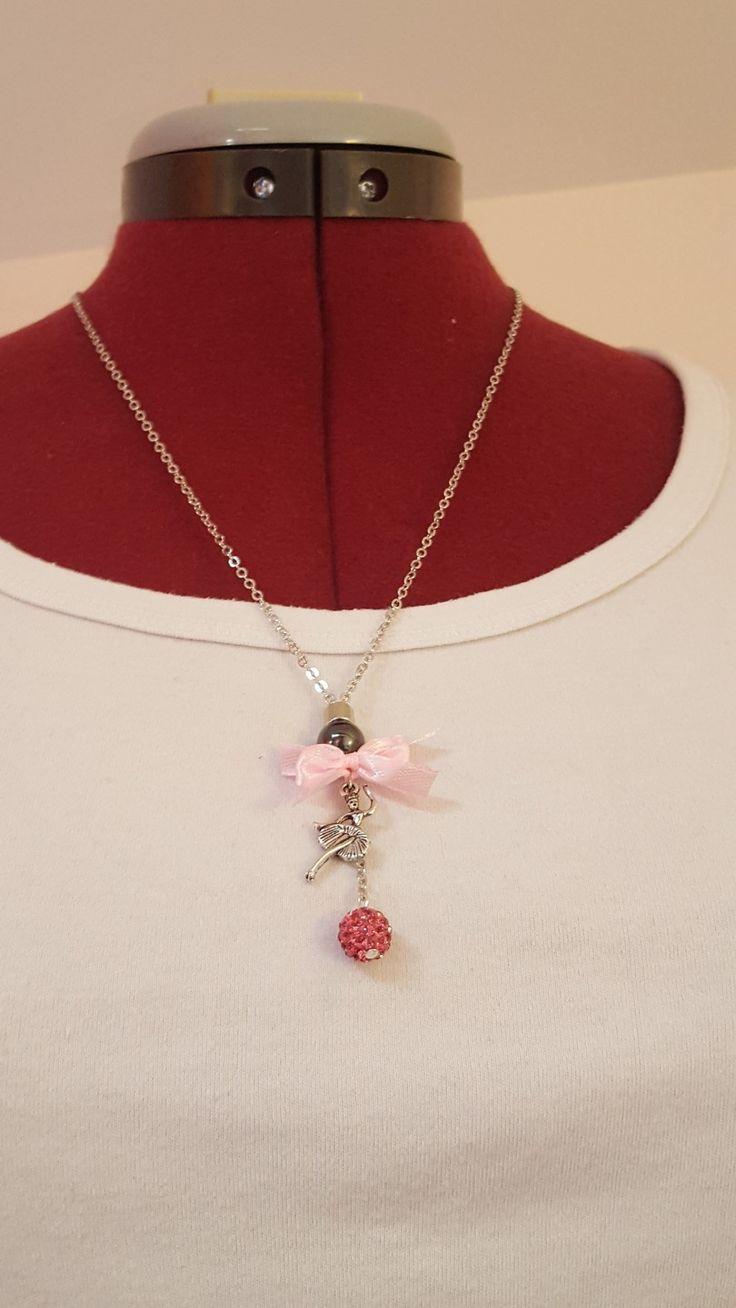 """Sautoir """" les danseuses """" rose : Collier par dbk-creation"""