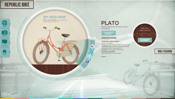 Republic Bike - Retail Store by Natalya Yampolsky, via Behance  http://www.behance.net/gallery/Republic-Bike-Retail-Store/6705893#