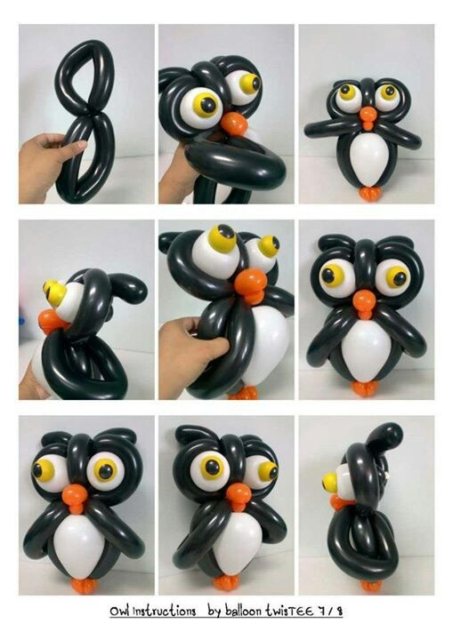 Owl balloon sculpture