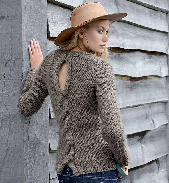 Ravelry: #100-13 Pull à torsade dos femme pattern by Phildar Design Team