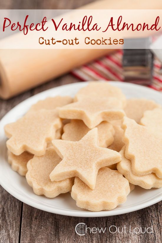 Perfect Vanilla Almond Cut-out Cookies - Chew Out Loud