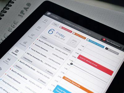 Calendar Screen (iPad App UX/UI)