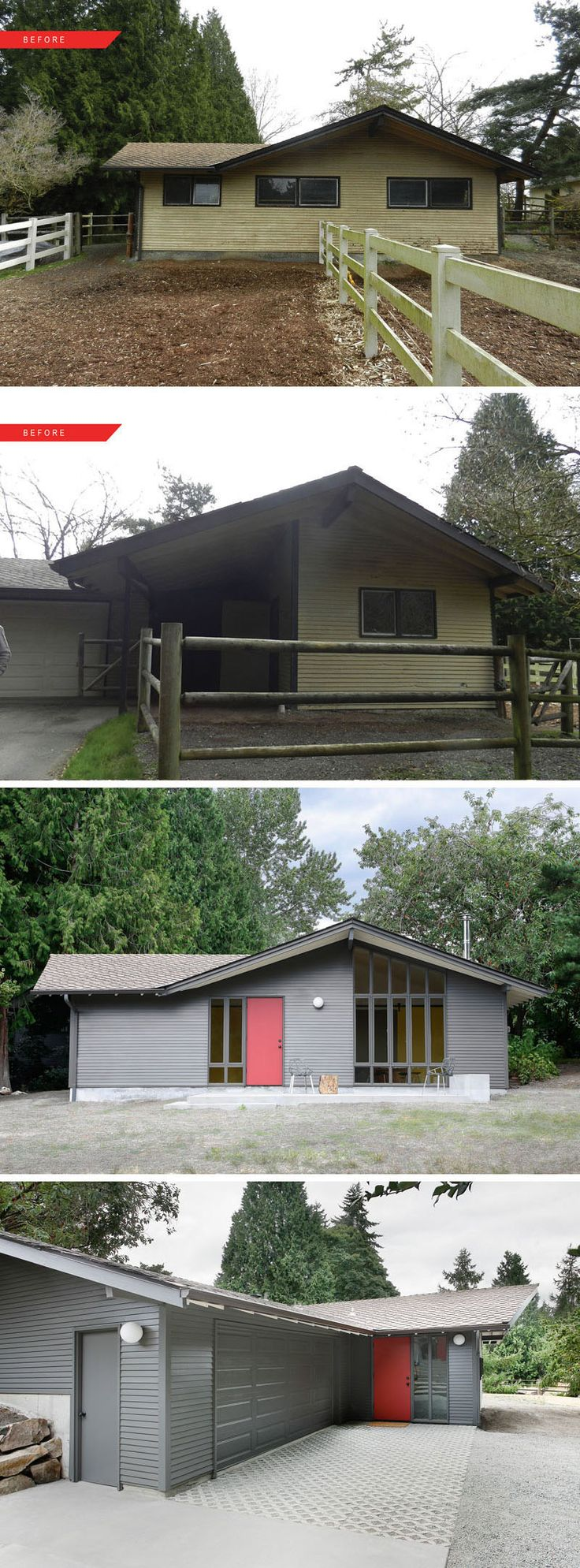 Inspiration for a large modern back porch remodel in san francisco - House Renovation Ideas 17 Inspirational Before After Residential Projects
