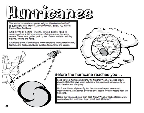 Here's a booklet for kids from the National Weather Service on hurricanes and hurricane safety.