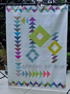 Modern Geese by Quilting Bias  - Modern Quilt Patterns – Finding The Best Ones http://quilting.myfavoritecraft.org/modern-quilt-patterns/