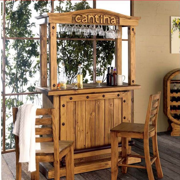 M s de 25 ideas incre bles sobre mueble r stico mexicano for Barras de bar rusticas para jardin