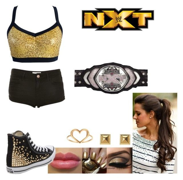 Match Against Scarlett For The NXT Women's Championship by samantha-vance on Polyvore featuring Topshop, Converse, Michael Kors, Dogeared and Estée Lauder