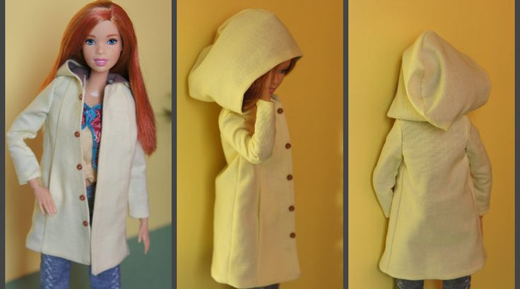 Hooded Trapeze Coat for Made to Move Barbie – For Dolls With Love