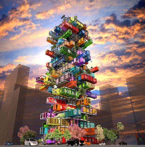 Mobiles Hotel-Konzept: Hotelzimmer to go