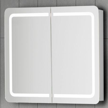 Cute Scanbad Samba Spiegelschrank x cm mit integrierter LED Beleuchtung und Sensor wei Hochglanz