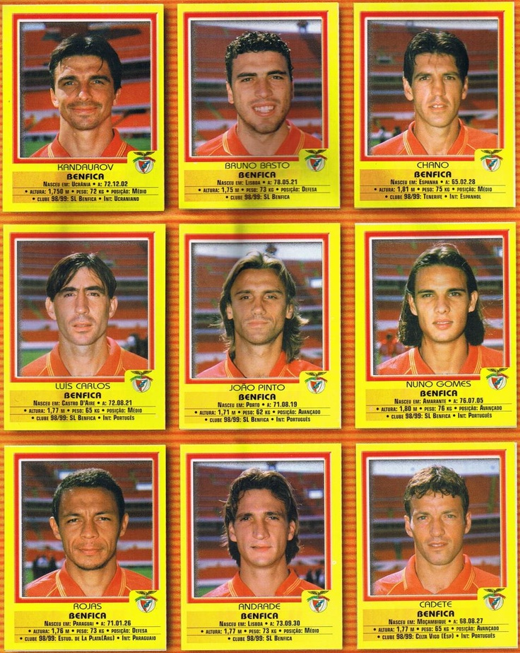 """Benfica 1999/2000 del jugador español Ex-Tenerife, Betis Sebastián Cruzado Fernández """"Chano""""."""