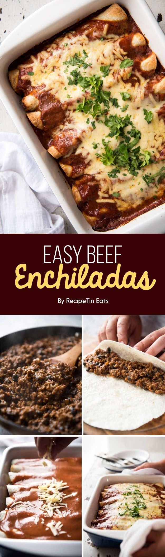 Easy Beef Enchiladas | 7 Dinners To Make This Week